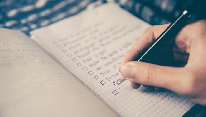 Create a Startup Checklist.