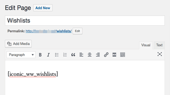 Create a Wishlist page for your customers.
