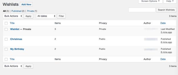 Manage the WooCommerce Wishlist plugin from Wishlis