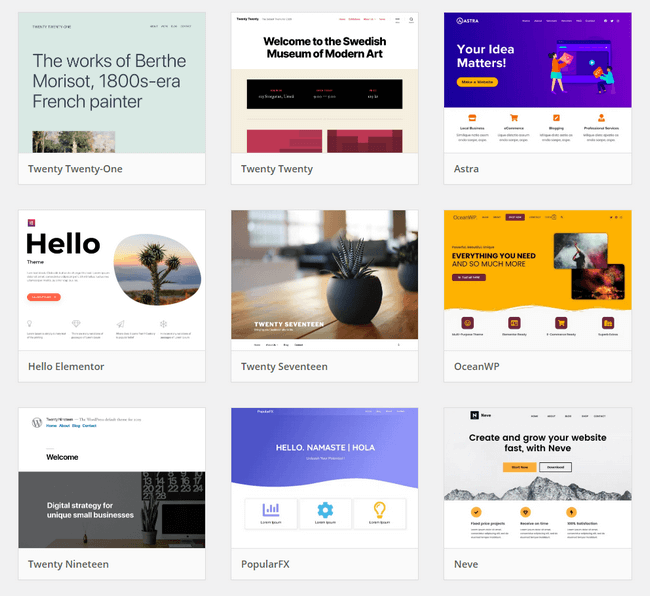 Shift from Wix to WordPress - WordPress have thousands free WordPress themes to choose from.